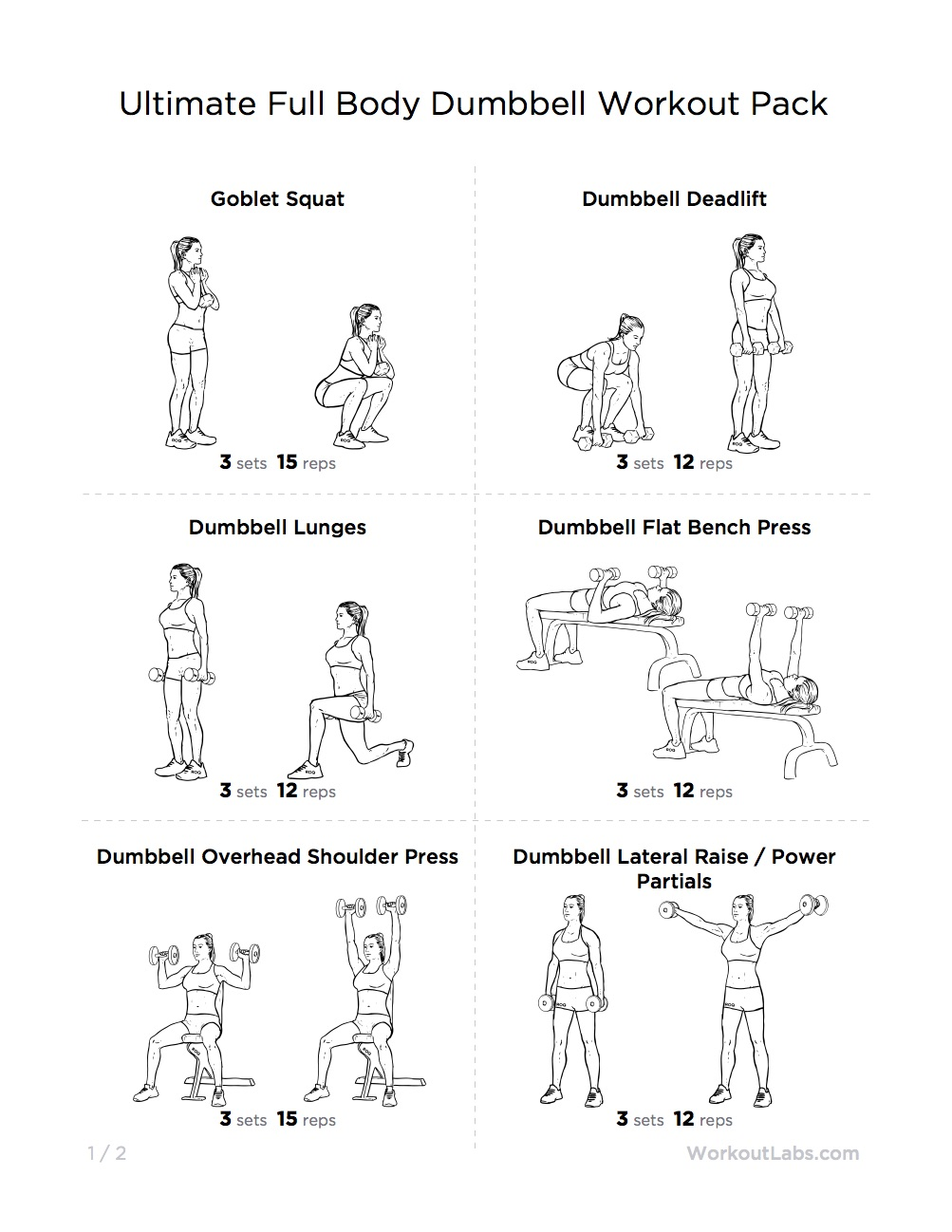 Workout Plan At Home With Dumbbells