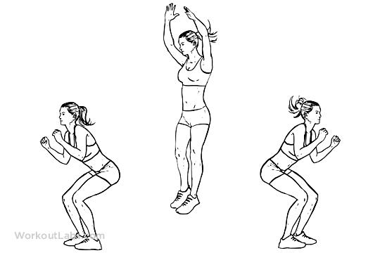 180 / Twisting Jump Squats