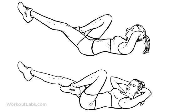 Bicycles Elbow To Knee Crunches Cross Body Crunches