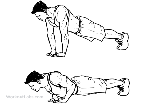 Press Triangle to Train Triceps