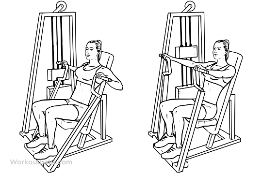 Shoulder press diagram