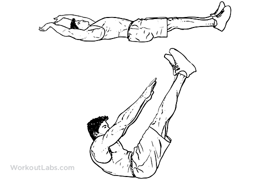 Jackknife Sit Up Crunch Toe Touches Workoutlabs