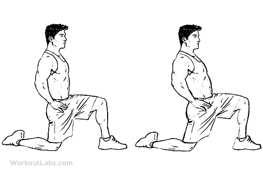Kneeling Hip Flexor Stretch | WorkoutLabs