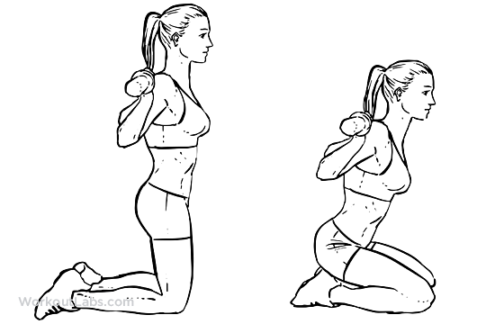 Barbell Kneeling Squats