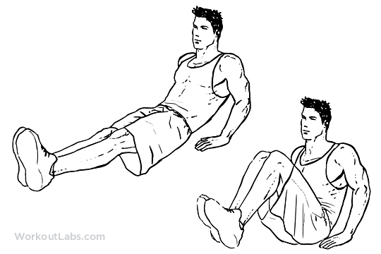Leg Pull In Knee Up Illustrated Exercise Guide Workoutlabs
