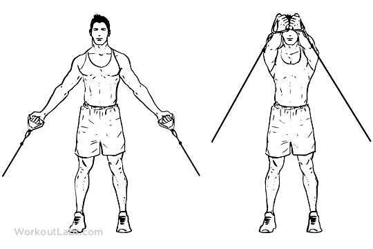 Low upward cable pulley crossover chest flyes workoutlabs for Floor underhand cable fly
