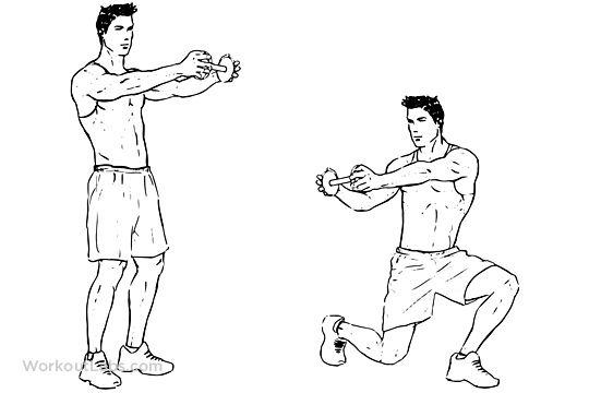Lunge Twist | Illustrated Exercise guide - WorkoutLabs