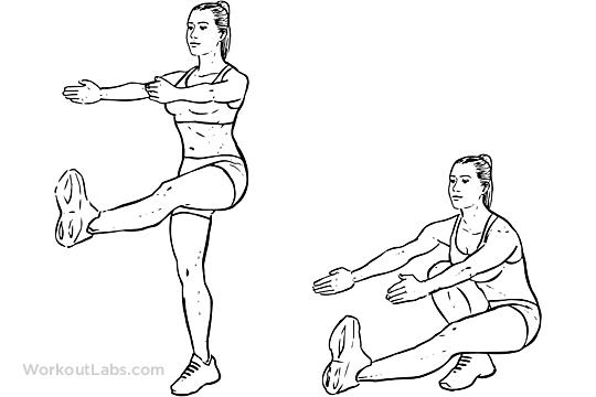 Pistol Single Leg Extended Arm Squats Workoutlabs