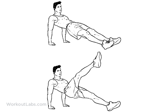 Reverse Plank Kicks Planks Workoutlabs