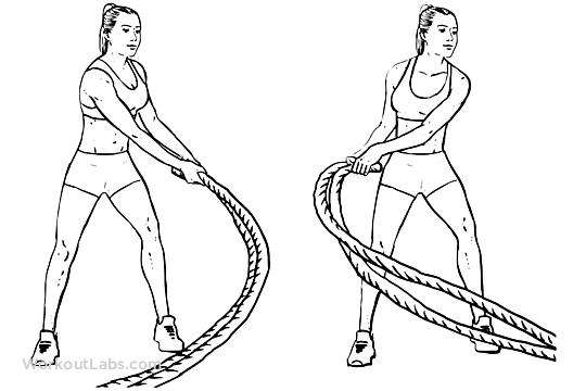 Battle Rope Side-to-Side Swings