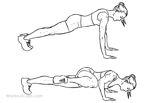 Spiderman Push Up Illustrated Exercise Guide Workoutlabs