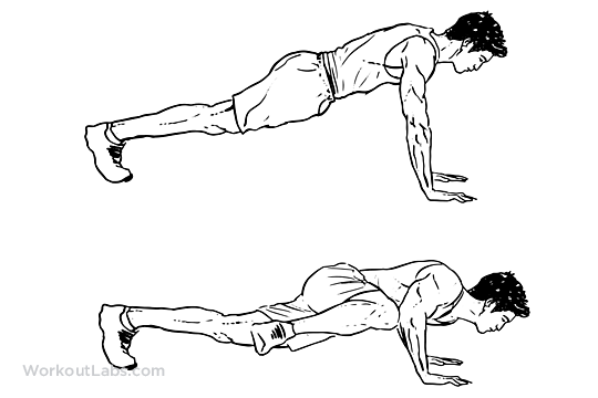 Spiderman Push-up | Illustrated Exercise guide - WorkoutLabs