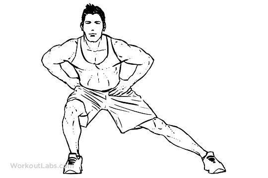 Hip adductor stretch