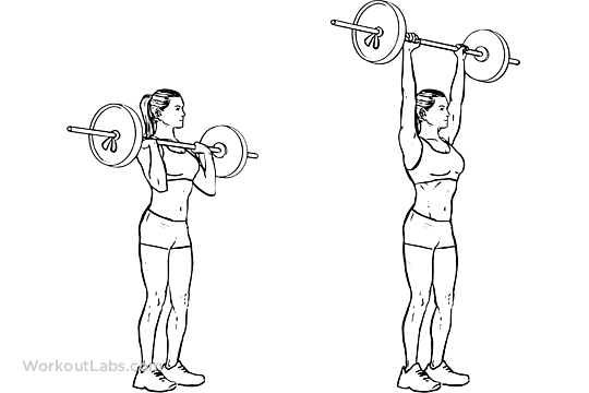 Standing shoulder press