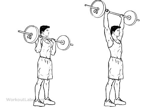 Standing shoulder press