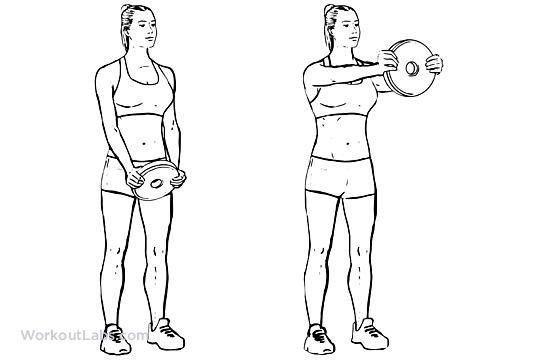 Standing Front Shoulder Plate Dumbbell Kettlebell