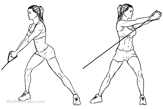 Wood Chop Exercise Upward Cable Wo...