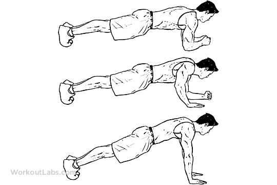 Plank to Push-Up / Plank Push-ups / Walking Plank ...